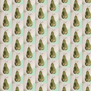 Pear print grey
