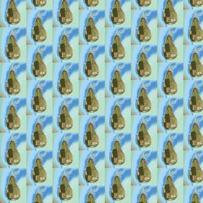 Pear print blue