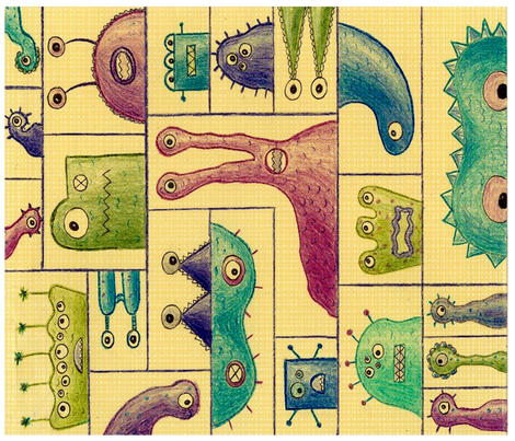 monster_block fabric by jaquezak on Spoonflower - custom fabric