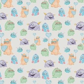Cute Monsters in Crayon