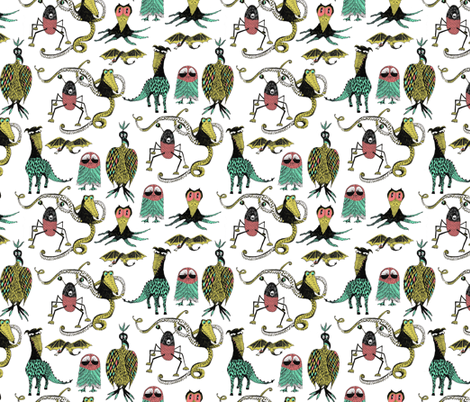 Little Monsters fabric by sary on Spoonflower - custom fabric