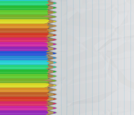 Colorful Pencils - Lined Up fabric by bonnie_phantasm on Spoonflower - custom fabric