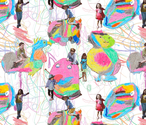 Make Your Monsters Your Playmates fabric by bloomingwyldeiris on Spoonflower - custom fabric