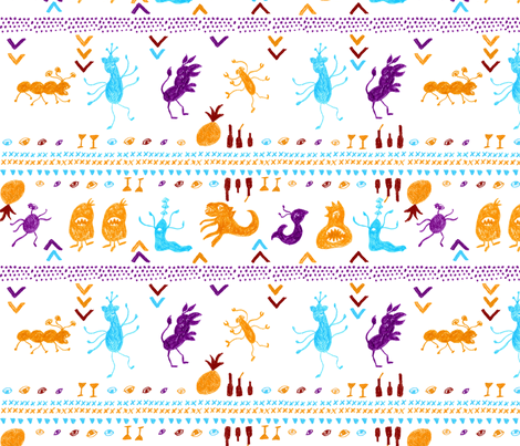 Monster Fiesta!! fabric by janetdrummond on Spoonflower - custom fabric