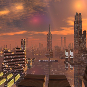 Alien City in Copper Brown 1 © Gingezel™