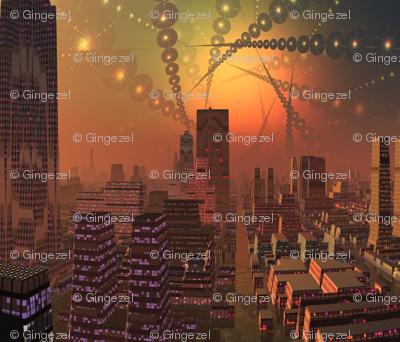 Alien City in Copper Brown 2