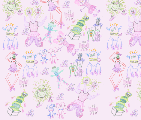 monster3 fabric by blackberryhill on Spoonflower - custom fabric
