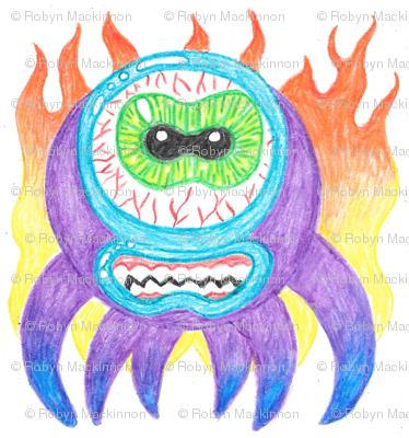 Purple Crayon Fire Monsters