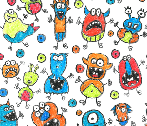 My Monster Crew fabric by olivia_henry on Spoonflower - custom fabric