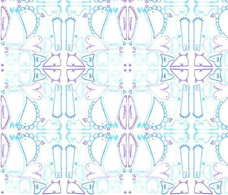 crayon monster mash! fabric by t-w-i-n-k-l-e on Spoonflower - custom fabric