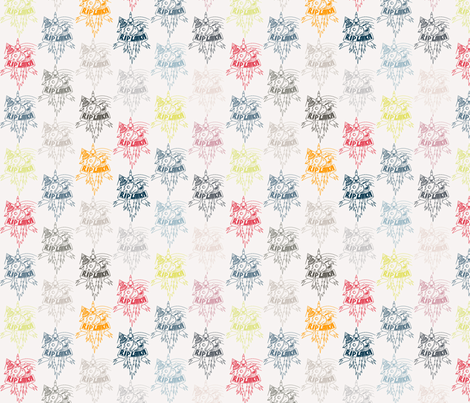 laika_outlines fabric by susiprint on Spoonflower - custom fabric
