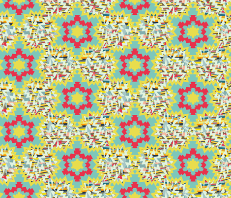 tribal and cosmic fabric by susiprint on Spoonflower - custom fabric