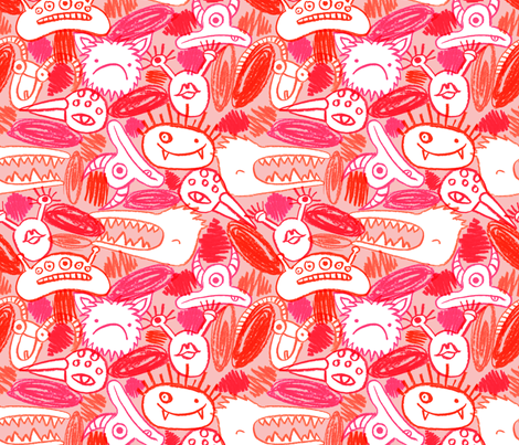 Monster fabric by wideeyedtree on Spoonflower - custom fabric