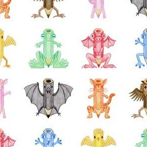pencil crayon critters