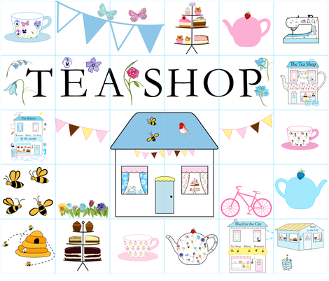 The Tea Shop quilt fabric by de-ann_black on Spoonflower - custom fabric