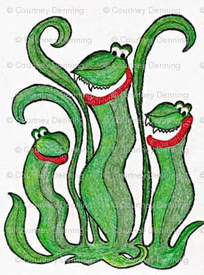 Crayon Monster -Pitcher Plant