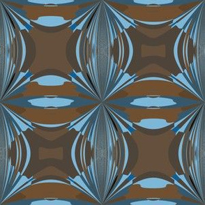 Blue and Brown Abstract Small