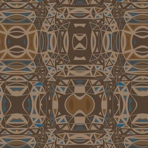 Complex Brown and Blue Geometric