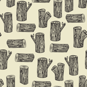 tree logs // forest woodland tree log tree stump cream gender neutral cream soft baby nursery crib bedding