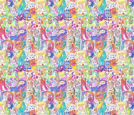 Creature Fair fabric by monkeyshinedesign on Spoonflower - custom fabric