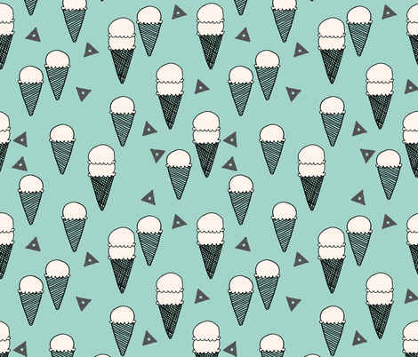 ice cream mint // icecream mint sweet ice creams tropical mint fabrics fabric by andrea_lauren on Spoonflower - custom fabric