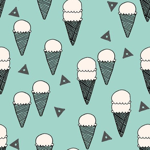 ice cream mint // icecream mint sweet ice creams tropical mint fabrics