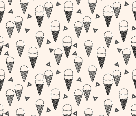 ice cream cones // ice cream cone fabric sweets summer tropical kids fun illustration food design print  fabric by andrea_lauren on Spoonflower - custom fabric