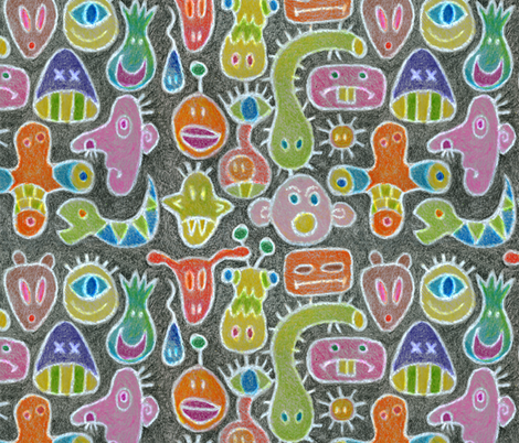 Monstrous!  fabric by elramsay on Spoonflower - custom fabric