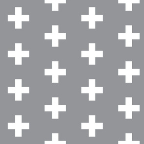 Grey Crosses - Grey Plus Signs
