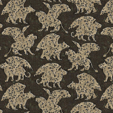 Lions,tigers,bears-Speckly fabric by eclectic_house on Spoonflower - custom fabric