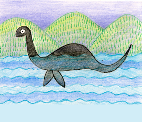 nessie pillow case fabric by bishopart on Spoonflower - custom fabric