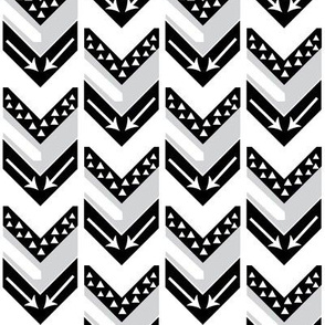 Black, Grey, White Arrow Chevron - Arrows and Triangles