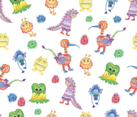 hiding_between_monsters-01 fabric by maribel on Spoonflower - custom fabric