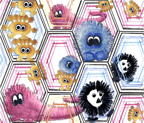 monsterfabric_0001_with_monsters fabric by subtlegracedesignstudio on Spoonflower - custom fabric