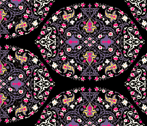 16th Century Medallion Ushak: Modern Colors fabric by pond_ripple on Spoonflower - custom fabric