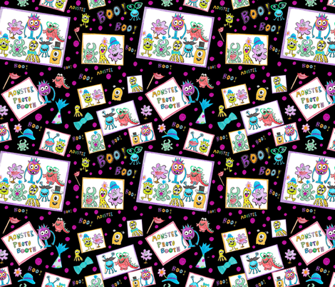 Monster Photo Booth fabric by taramcgowan on Spoonflower - custom fabric