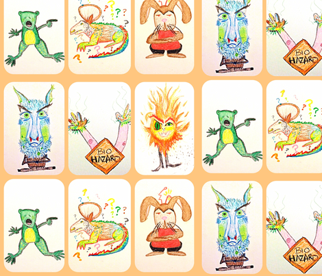 Mind-Altering Monsters fabric by little-spinster#3 on Spoonflower - custom fabric