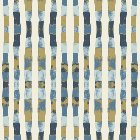 Banded Stripe Pearlwood fabric by gollybard on Spoonflower - custom fabric