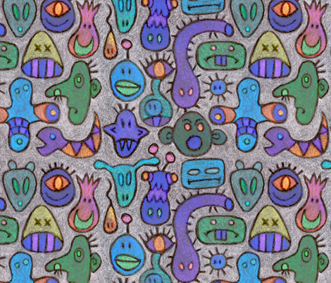 Monstrous! - inverted fabric by elramsay on Spoonflower - custom fabric