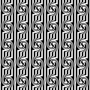Black & White Swirly Stripes