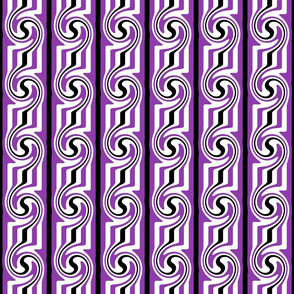 Purple and Black Swirly Stripes
