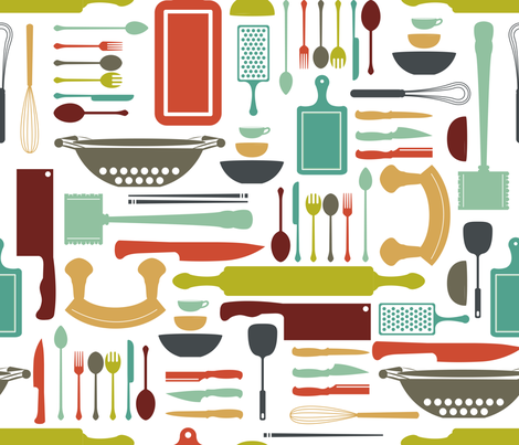 Whats-Cookin fabric by lydesign on Spoonflower - custom fabric
