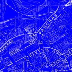 Blue Pique London AtoZ 28x36