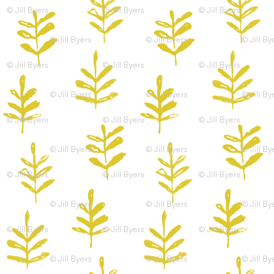 Sprigs Citron White