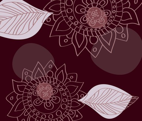 Mehndi Fabric Wallpaper Gift Wrap Spoonflower