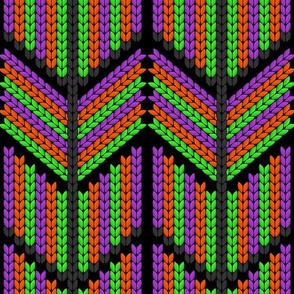 halloween knit zig zag