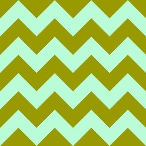 Green Mint Chevron