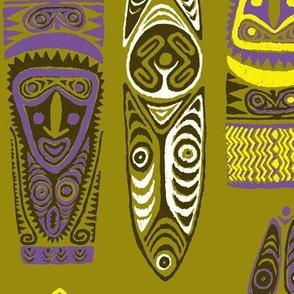 New Guinea Masks 2d