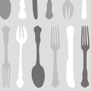 Cutlery Greyscale