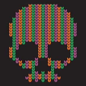 halloween knit scull